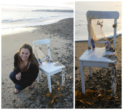 Sam's embelished beach chair