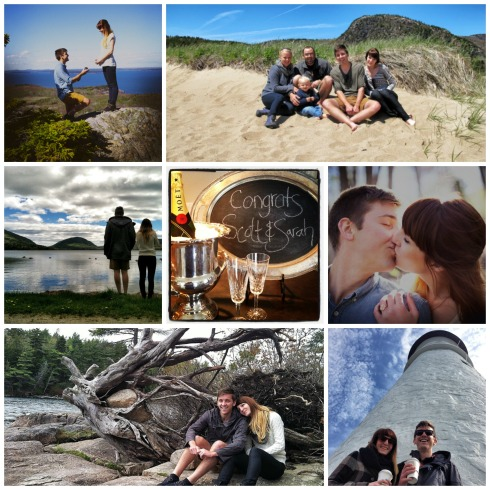 Scott & Sarah engagement Collage